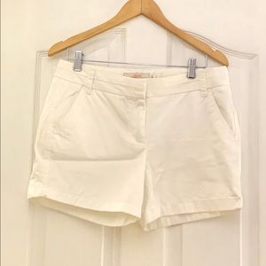 J.Crew White Chino Shorts